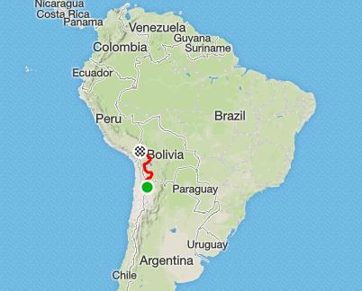 Bolivia route macro